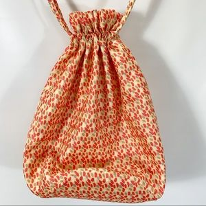 Vera Bradly Ditty Bag Drawstring Top Lined Dots